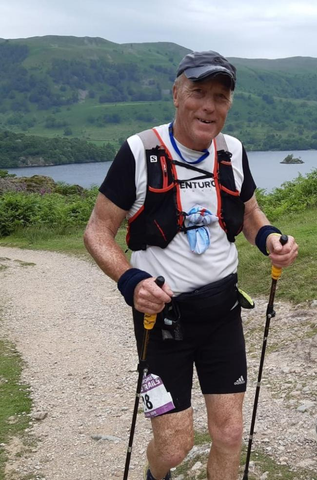 Rupert Chesmore part way round the Lakeland 100km race. Picture: Kate Sackett