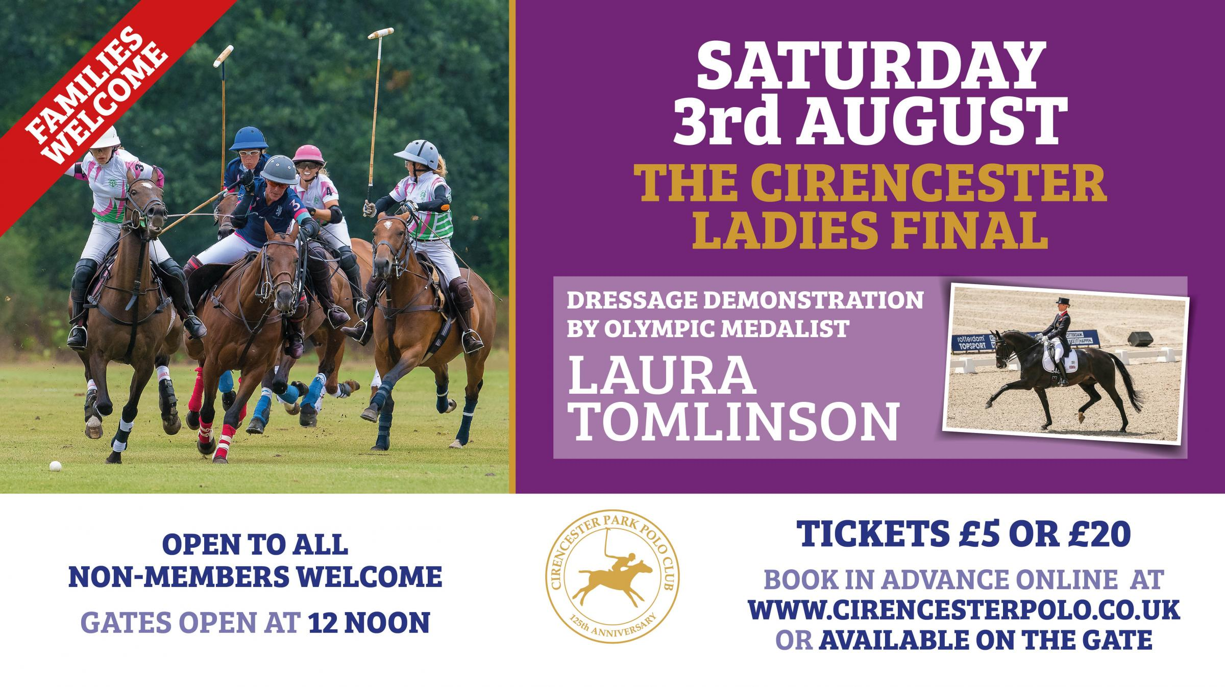 Ladies High-Goal Polo Final & Olympic Dressage Demo