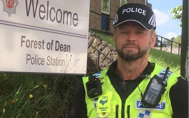 "Sergeant Mark Burns said the new police bump caps are ""far more practical"". Picture - Gloucestershire Live/SWNS"