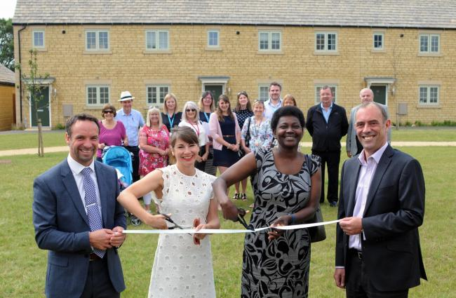 Fairford scheme opening, 60 affordable homes open in Fairford as part of new development