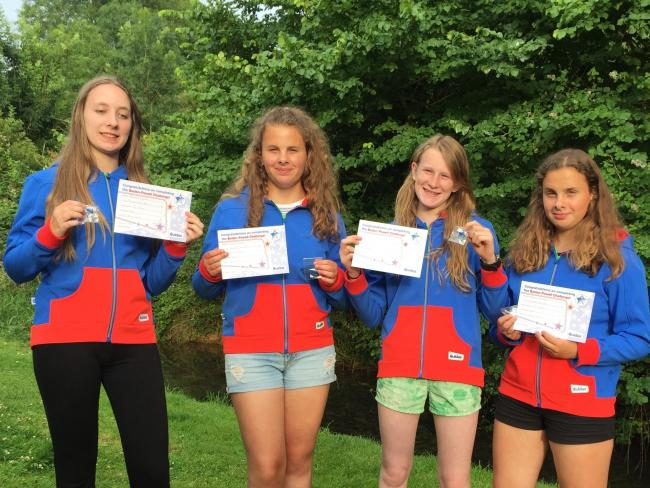 At 1st Sherston Guides Keren Simpkins, Emilia Snowden, Polly Snowden, and Zoe Ward all achieved the award