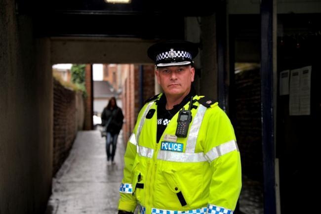Supt Adrian Burt criticised those who assaulted his officers Picture: DAVE COX