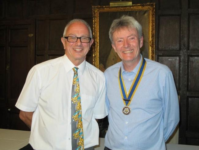 Newly appointed Rotary Club district governor Alan Hudson with Cirencester Rotary president Shaun Gibson at a recent meeting