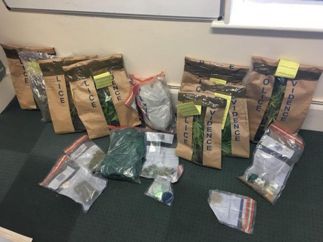 Drugs seized by officers. Picture by Cotswolds Police