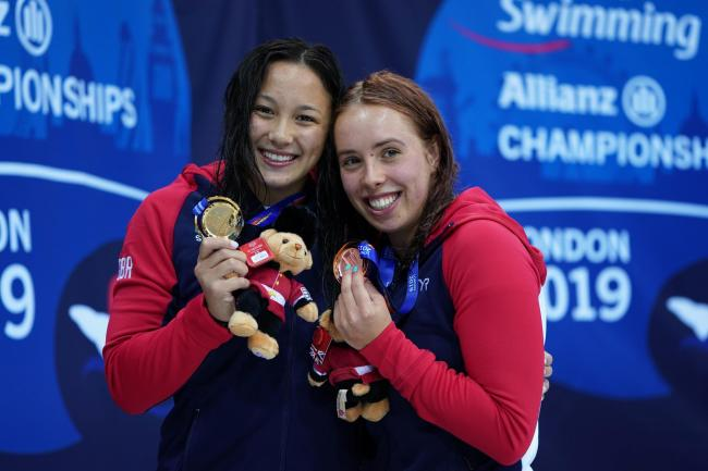 Alice Tai, left, and Megan Richter both enjoyed medal success during day two of the World Para Swimming Championships in London.