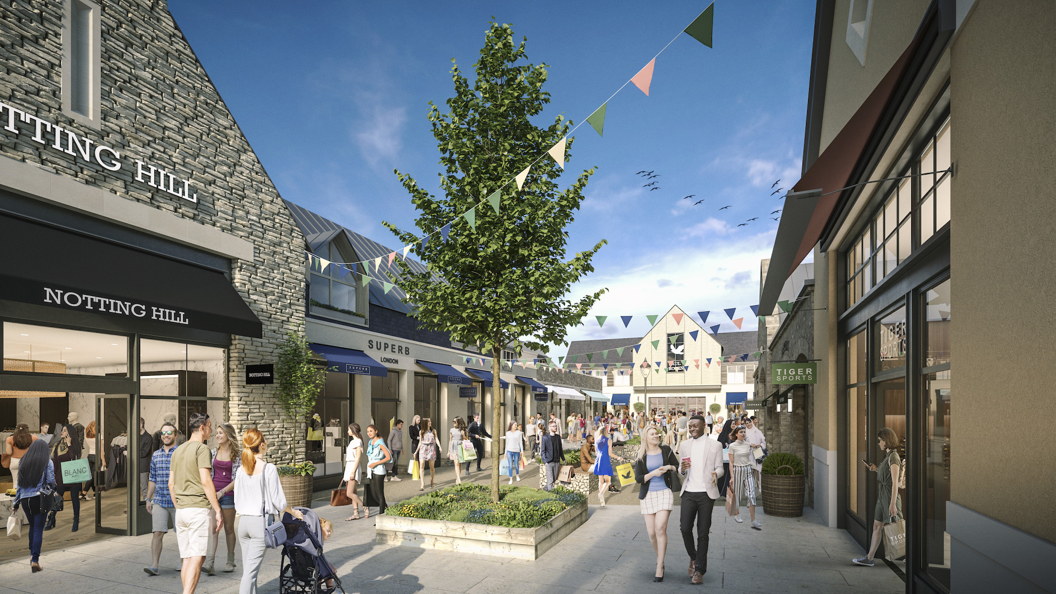 Plans unveiled for state-of-the-art outlet village in Gloucestershire