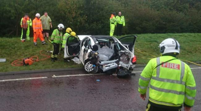 The scene of one of the crashes. Photo: Highways England