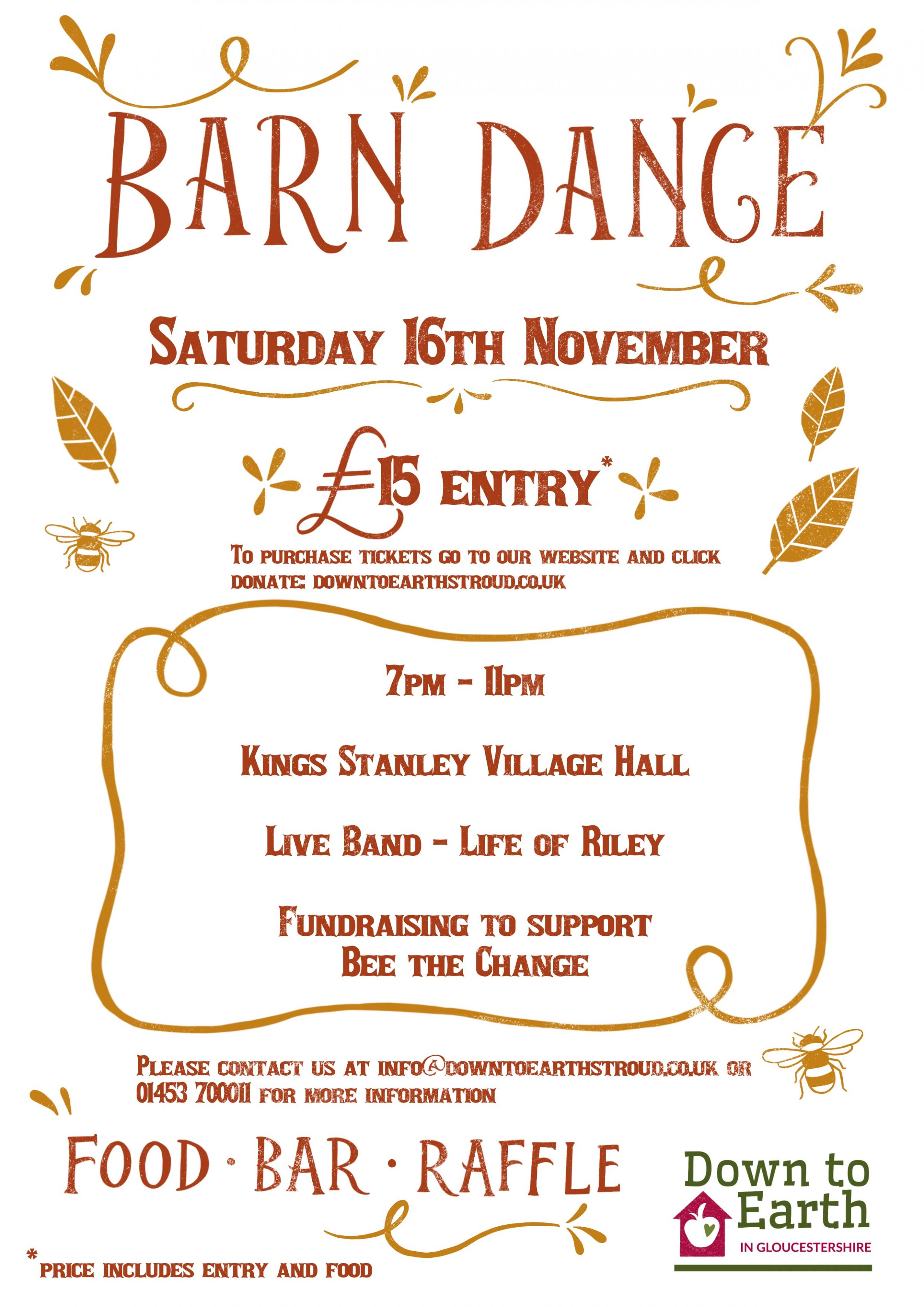 Barn Dance 'Save the Bees' Fundraiser!