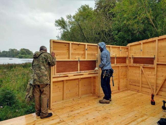 A brand new accessible hide has been installed at the nature reserve