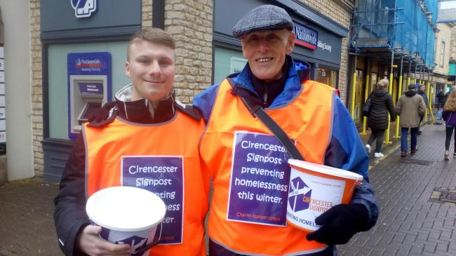 Charlie and Terry were two of the volunteers collecting in Cirencester