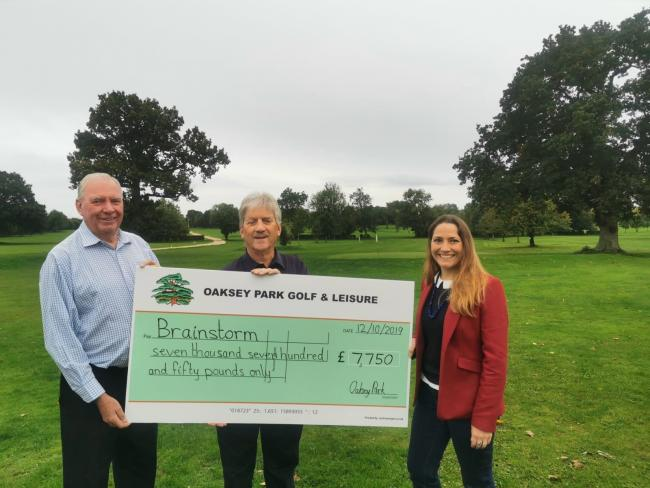 Oaksey Park Golf Club's charity day raised £7,750 for Brainstorm