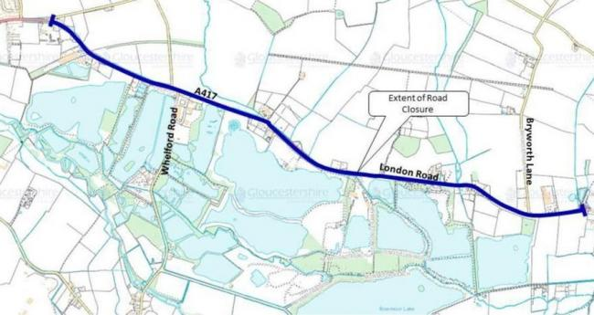 The road closure for Lechlade