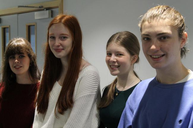 Smiles for students at The Cotswold School after their Oxbridge offers