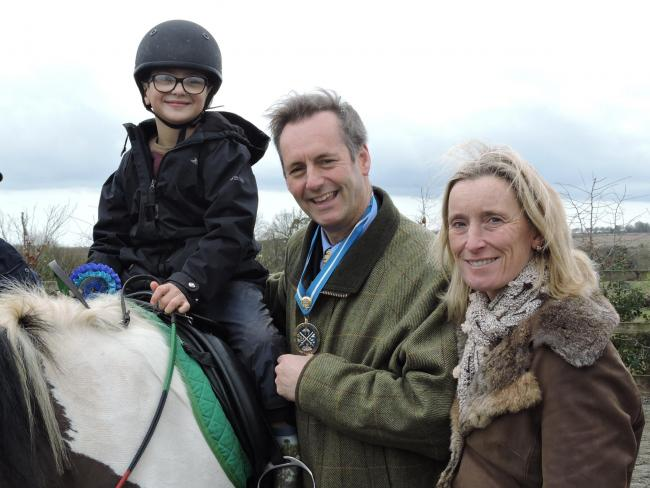 Charles and Daisy Berkeley with Charlie Barratt of Chesterton School