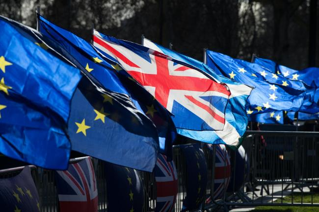 Union and European Union flags