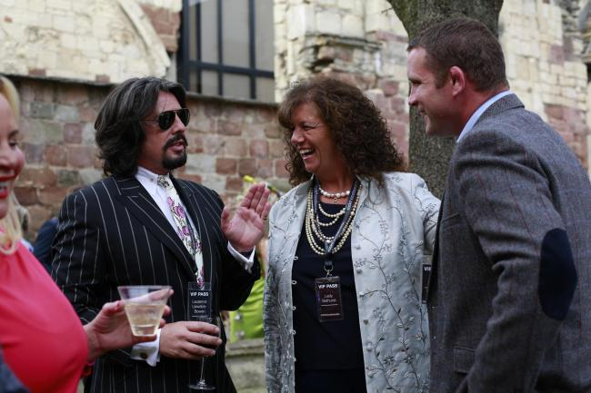 Laurence Llewelyn Bowen (left) has been announced as the latest judge for the Cotswold Challenge, alongside Lady Bathurst (middle)