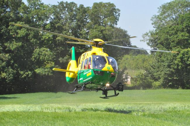 Laser attack on air ambulance over Corsham