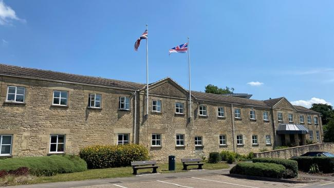 Cotswold District Council raises the flag for Armed Forces day
