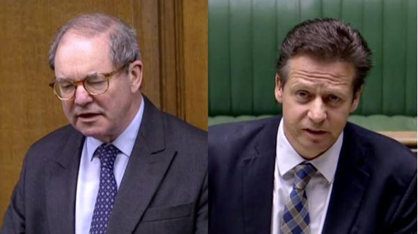 Sir Geoffrey Clifton-Brown MP (left) and Nigel Huddleston MP (right) in the House of Commons