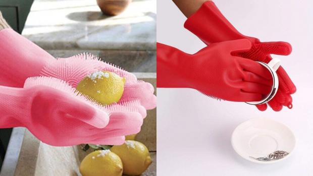Wilts and Gloucestershire Standard: Gloves and sponges in one? Yes, please. Credit: Forliver