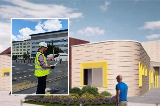 Work gets underway on the new radiotherapy unit in Swindon Picture: GWH