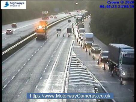 The M4 between Junctions 17 and 18 in both directions remains closed following the incidents