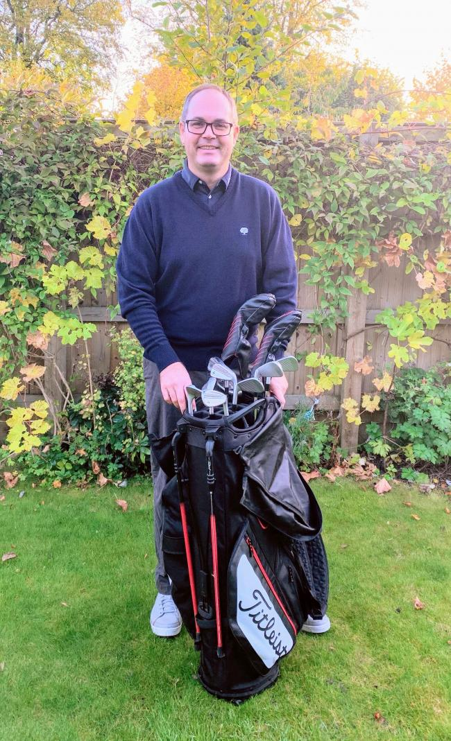 Leighton Rees, winner of the Fur & Feather competition at Cirencester Golf Club over the weekend