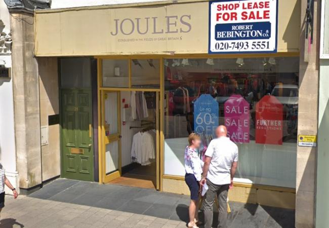 The old Joules store in Cirencester