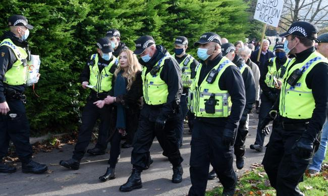 Police made an arrest at a public gathering in Stroud in November