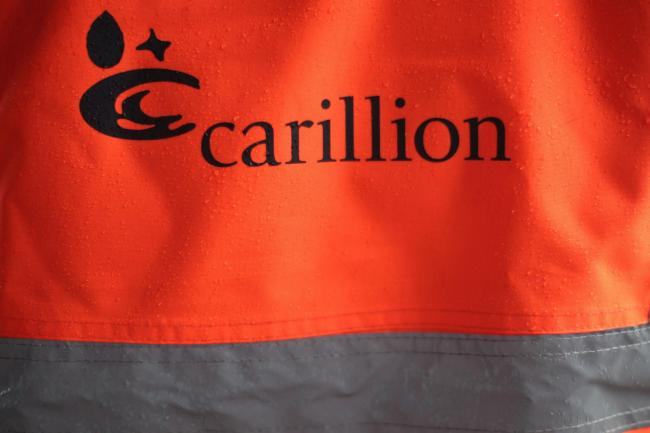 A Carillion hi-vis jacket