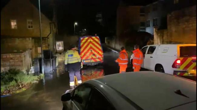 Flooding in Cirencester on Christmas Day. Pic: Joe Harris