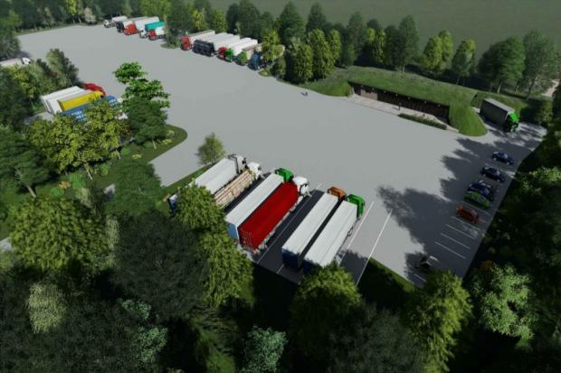 How the roadside truck stop will look if plans receive planning approval