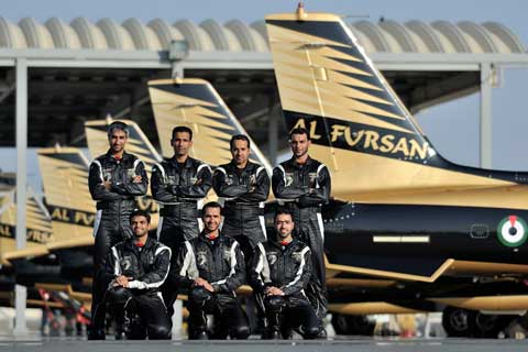 Al Fursan from the United Arab Emirates Air Force will display at the Royal International Air Tattoo at RAF Fairford