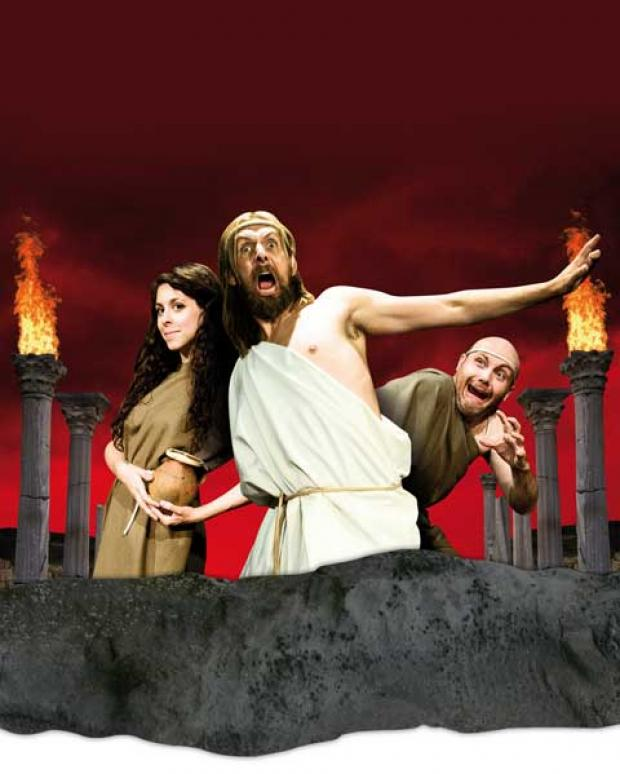 The comedy is based on the story of the ancient Greeks and the Olympics