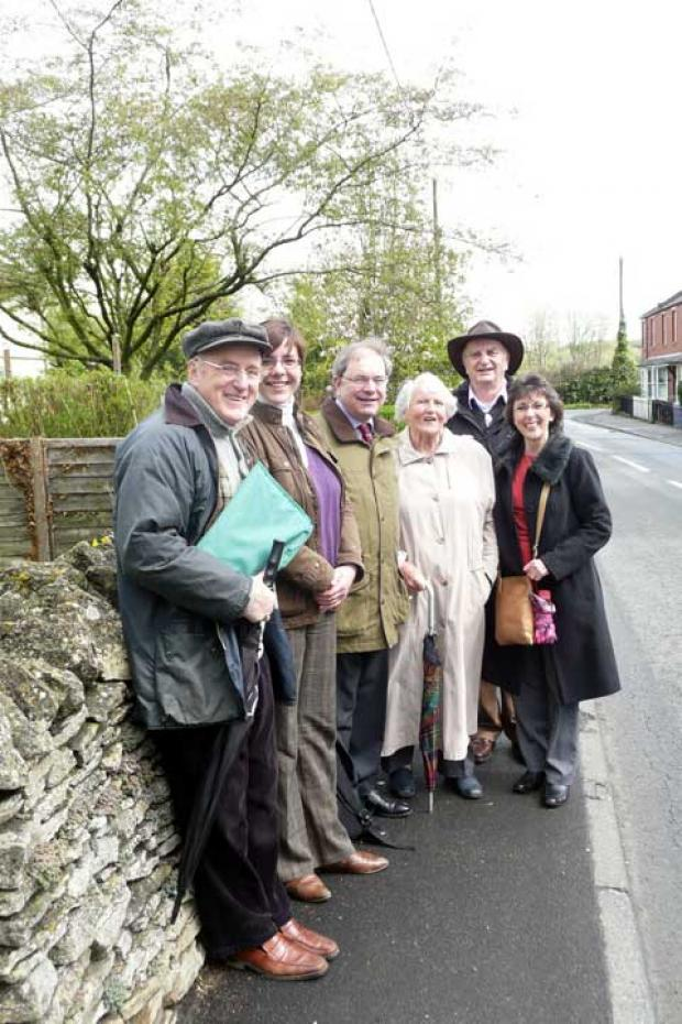 Malcolm Mosely from Siddington Parish Plan Action Group, Amanda Barrie from the Dept for International Development, Geoffrey Clifton-Brown MP, Aileen Calvert from Siddington Parish Plan Action Group, Cllr Chris Rumble and Cllr Alison Wagstaff