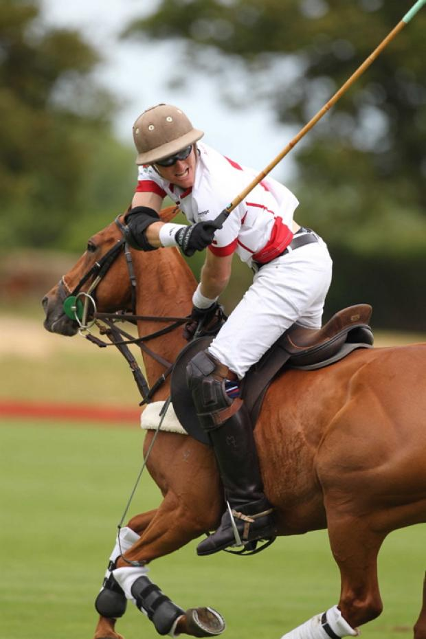 England polo captain Luke Tomlinson will be at the charity polo event this weekend