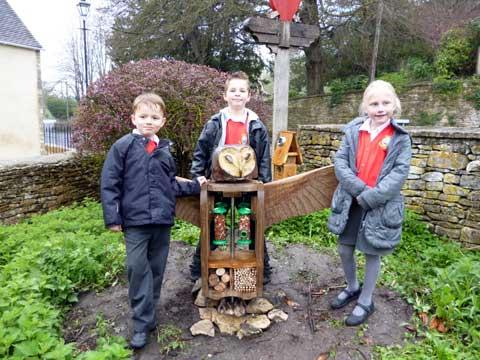 A new garden sculpture for Avening pupils
