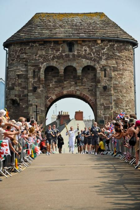 Olympic Torch Relay: the Flame arrives in Wales