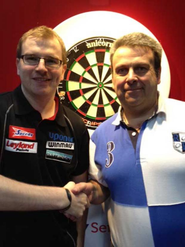 Darts pro Mark Webster and Paul Boulton