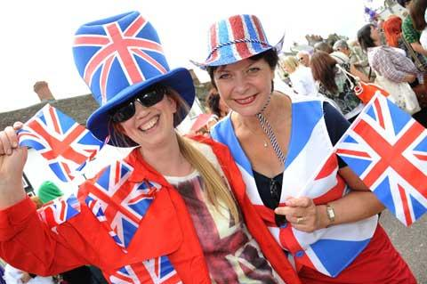 Cricklade Festival committee members Jo Wynne and Lynn Forrester enjoy the jubilee-themed day