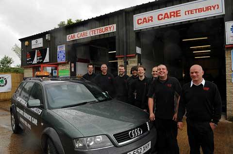 Mike Hicks and his team at Car Care Tetbury
