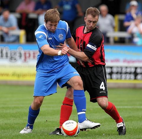 Chris Thompson, right, is back at Cirencester Town
