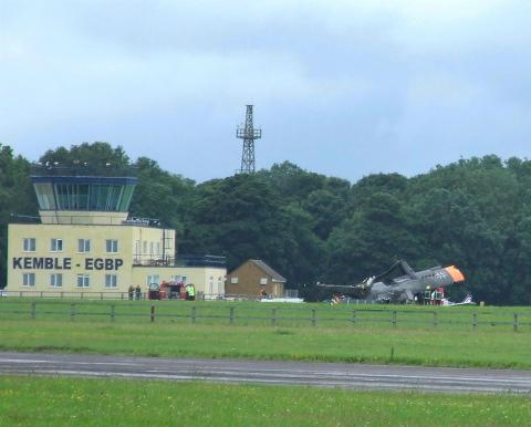 Cotswold Airport re-opens following crash