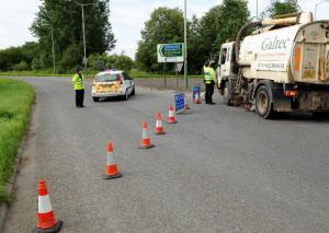 The A429 will be closed for several hours between north and south roundabout following a crash near Malmesbury