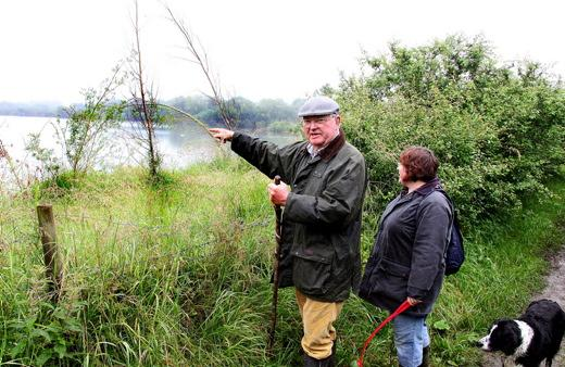 Robert Jeanes and Alison Dugdale from Fairford complain about the loss of lake 104 views from the footpath