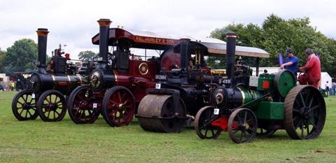 Steam engines on show at a previous Gloucestershire Steam & Vintage Extravaganza