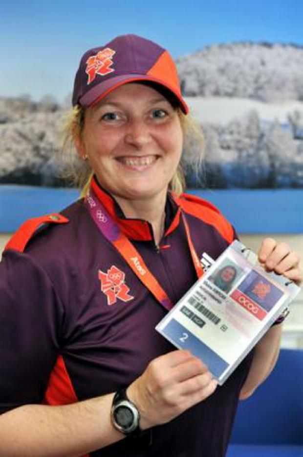 Tetbury's Elaine Kirton with her Olympic pass