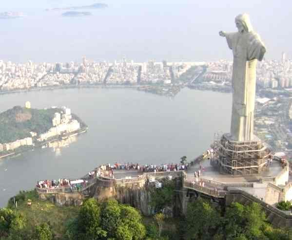 The Christ the Redeemer statue overlooks the Rio Olympic rowing course