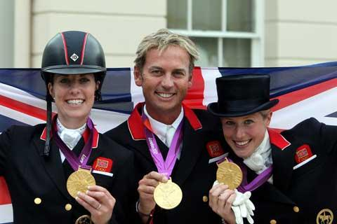 Team GB's successful Olympic dressage trio