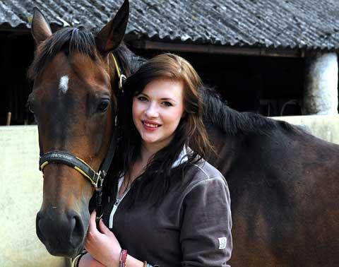 Dani Genillard with her horse Pili who will be doing a charity ride in aid of Afghan Heroes